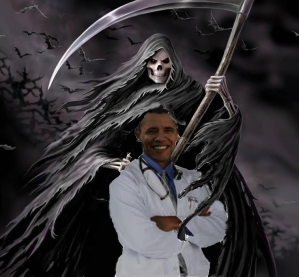 Obama with reaper