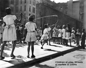 Children at Play in the Streets of Harlem in 1950s